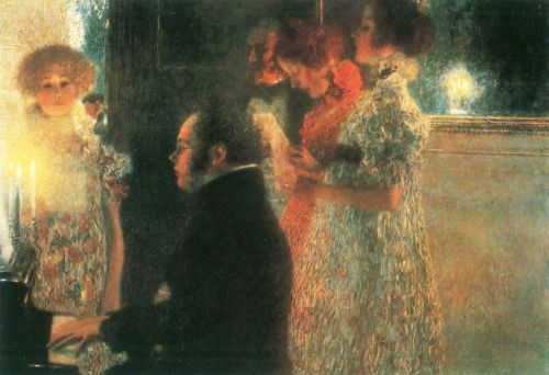 Gustav Klimt - Schubert at the Piano II (1899)
