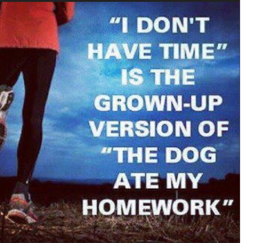 Who hasn't used this excuse once or twice before? Happy Friday! Stay motivated this weekend