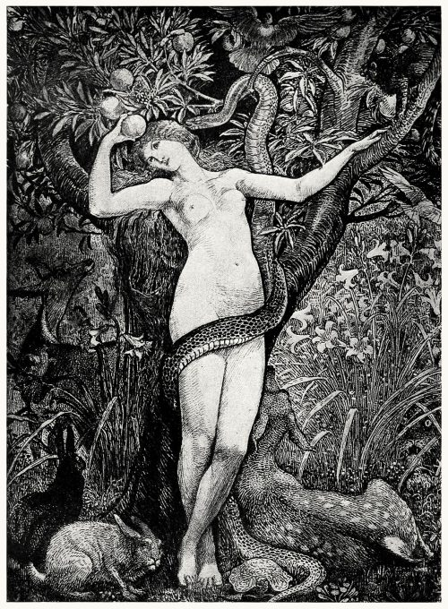 Eve.  Walter Crane, from The graphic arts of Great Britain, by Malcolm C. Salaman & Charles Holme, London, Paris, New York, 1917.  (Source: archive.org)