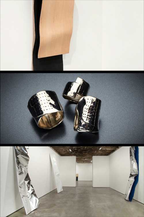 GREY AREA FOR HELMUT LANG: BAND-AID RINGS BY MICHELLE LOPEZ  The Band-aid Ring is Lopez's 15-year old idea that got executed last summer when she was making her brother's wedding ring. Many of Lopez's sculptures shift the material of a familiar object by having it collide with another idea to deepen the object's truth. By commemorating a wound with a precious metal, Lopez wanted to make our cuts iconic. These designs render not only band-aids but thimbles, honest wedding bands, armor and protectors of our human injuries, while hoping to contain a bit of bittersweet humor. ABOUT THE ARTIST Michelle Lopez's work has been seen at solo exhibitions at Feature, Deitch Projects, Simon Preston Gallery, LA><Art, Fondazione Trussardi (Milan). Currently she has a solo show at Galerie Christophe Gaillard in Paris. Notable group exhibitions: PS 1 (Greater New York, 2000), Public Art Fund Metrotech, OCMA California Biennial, Yerba Buena Center for the Arts, and the Brooklyn Museum. Michelle has been reviewed in Artforum, New York Times, Art in America, Frieze and Newsweek. She is the recipient of a NYFA fellowship grant in the category of sculpture (2011), UC Berkeley research grants, and a NYFA fiscal sponsorship. Before receiving her MFA from SVA in 1994, Michelle earned a BA cum laude degree in literature and art history from Barnard College, Columbia University in 1992. She currently lives and works in Brooklyn and teaches at Yale University, School of Art in the sculpture department. SHOP OUR NEW CAPSULE, GREY AREA FOR HELMUT LANG GOODS