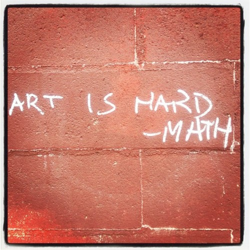 Art v Math #graffiti