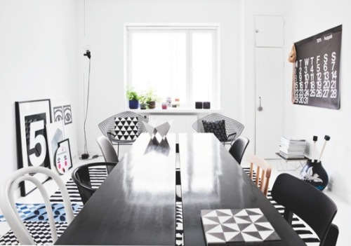 black, white, graphics (via We Love / Scandinavian living)
