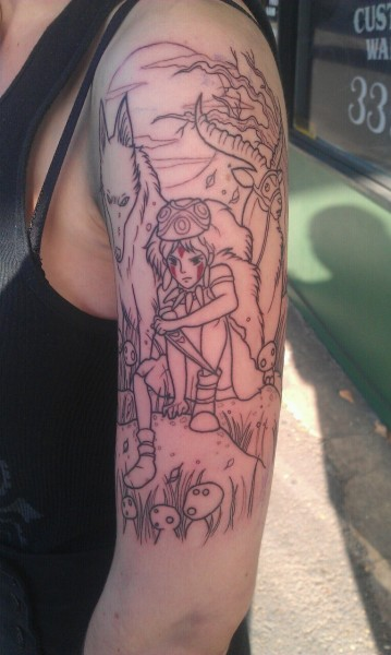 scotchtrooper:     pokemon-trainer-lunasea:  First ink :) done by a super talented friend of mine =^.^=   Fantastic!