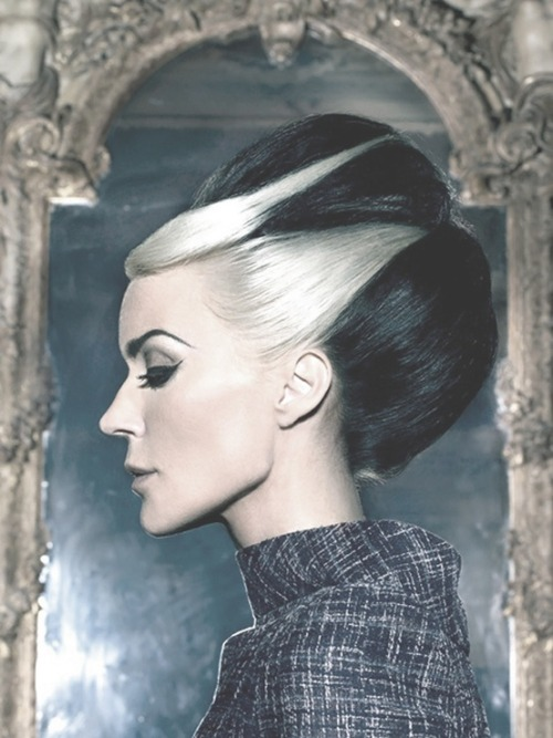Daphne Guinness Black & White Black and White Hair Hair Fashion