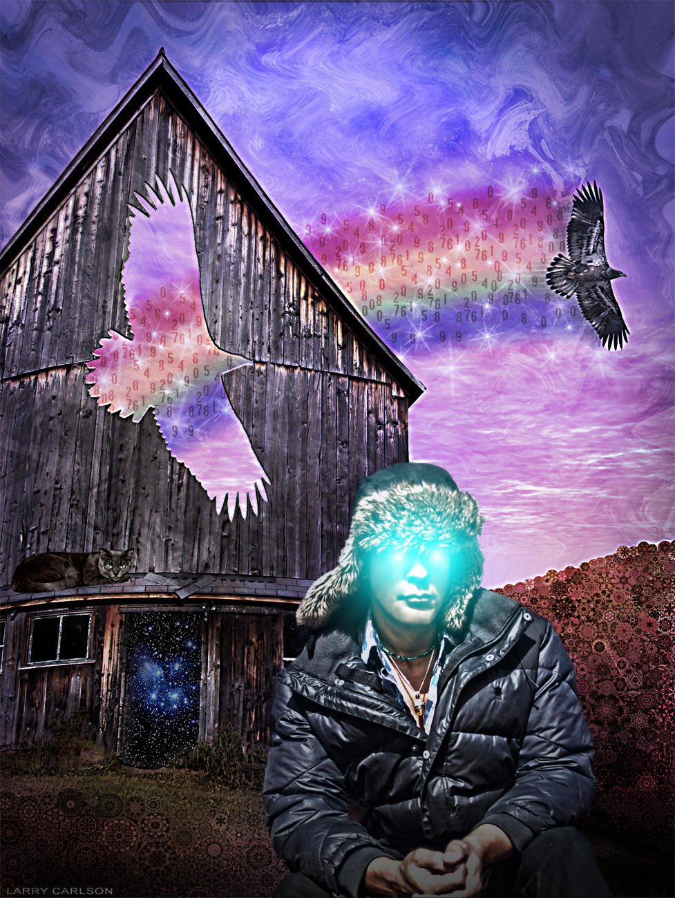 LARRY CARLSON, SELF PORTRAIT - AUTUMN MAGIC, digital photography, 2011.