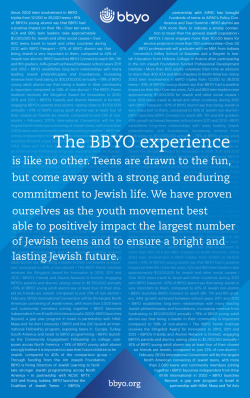 A new ad highlighting BBYO's accomplishments!