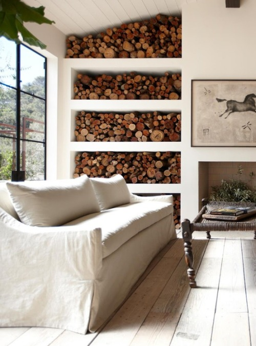 decorating with wood stacks (via We Love!)