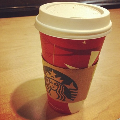 chi tea latte time - stay warm New York! (at Starbucks)