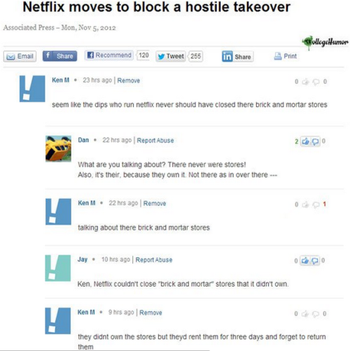 The Troll trolls NETFLIX [Click to continue reading] This is the real hostile takeover.