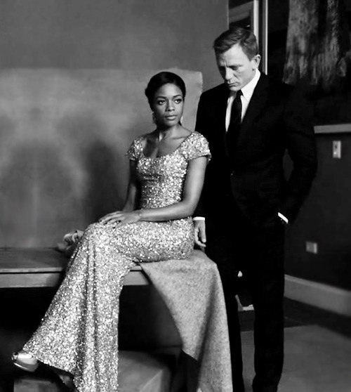 Naomie Harris and Daniel Craig by Ruven Afanador for The Hollywood Reporter August 2012