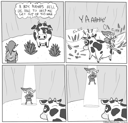 drawingnothing:  Cow why are you in that hole anyway.