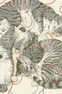 fuckyeahillustrativeart:  cats by Laura Graves Buy the print on Society6!