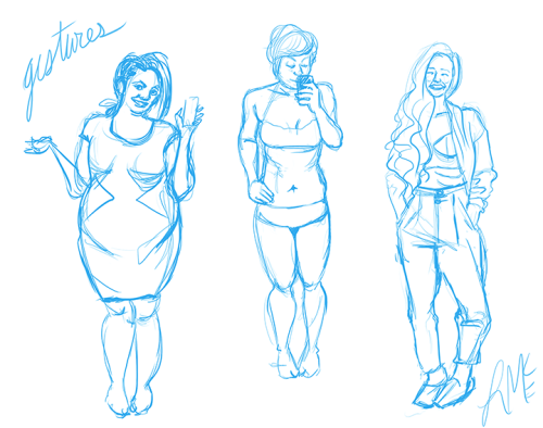 I was creeping through the body positive tag and thought these lovely ladies would make some lovely gestures.