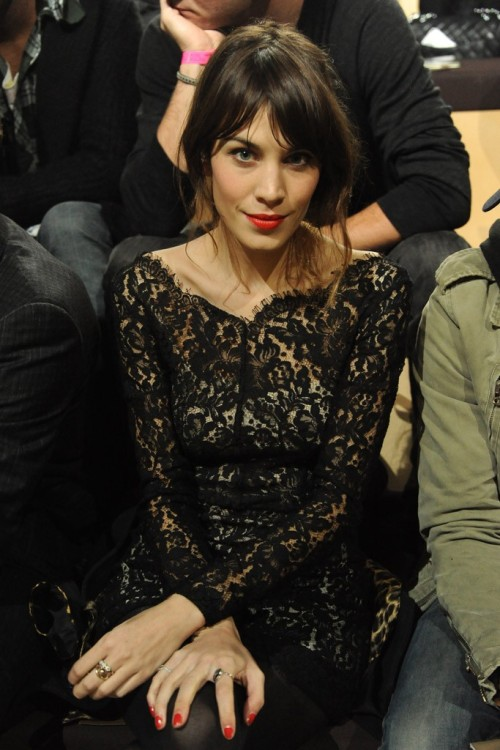 labellefabuleuse:  Alexa Chung at The Victoria's Secret Fashion Show, 2012