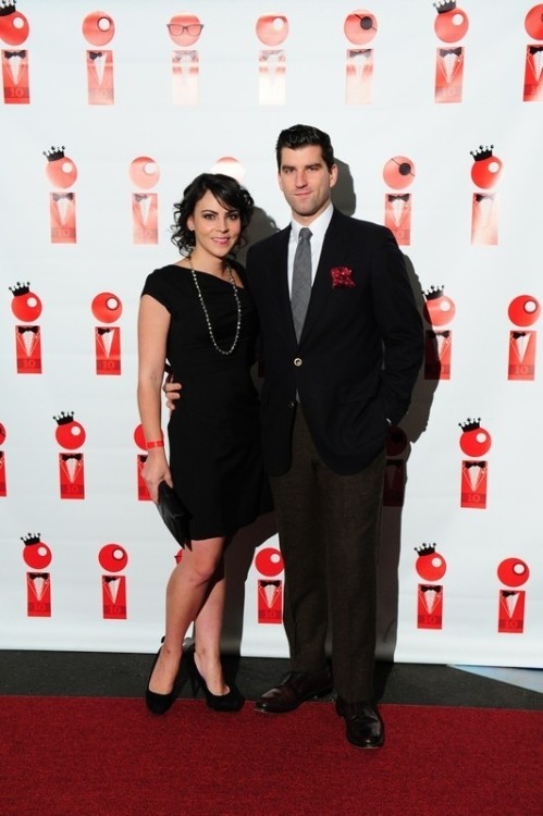 CC and I at the RedEye 10 year anniversary party last weekend. All my shoes are now lined with red carpet so I'm always walking on red carpet.