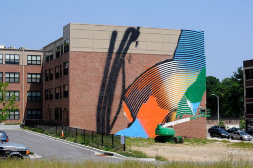 Open Walls Baltimore is an unparalleled street art project managed by and located in the Station North Arts & Entertainment District and curated by Gaia. The finest and most widely recognized street artists from around the world are mounting an outdoor exhibition of extraordinary murals that enlivens public spaces, stimulates community revitalization and national dialogue, and attracts visitors and investors to Station North. Open Walls Baltimore will build through April and May with the installation of more than twenty additional murals in time for a Final Friday celebration on May 25th.