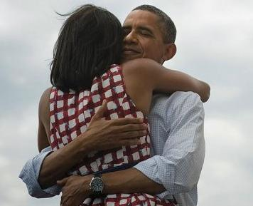 iamthenicestone:  US President Obama and his wife