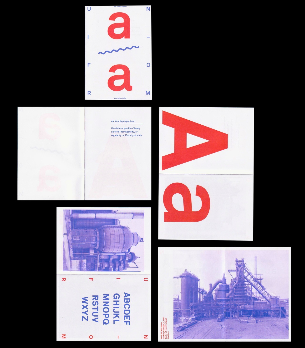 Uniform type specimen - selected pages