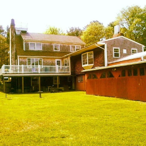 My second home #charlestown #house #beach #eastbeachroad #ri #shingles #house #roof #trees #nature #creation #green #grass #windows #porch #summer #sky #instagood #instastyle #pretty