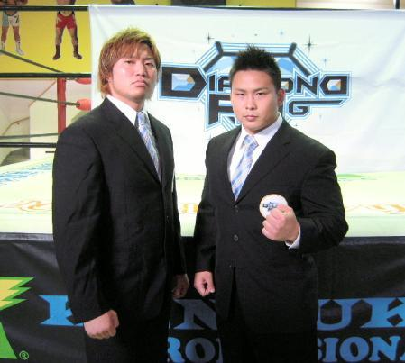 "[DIAMOND RING News] It has been announced that Katsuhiko Nakajima and Kento Miyahara will meet each other one on one at the December 8th show. This will mark the first time in 3 years since the two have faced one another.Kento Miyahara [23 ] has been competing as a pro wrestler since February of 2008 and is aiming to be a future top heavyweight contender in Japan. While Nakajima [24] has been in pro wrestling since 2003/04 and has really become Sasaki's top pupil. With Sasaki being forced out of competing after undergoing surgery last month Nakajima has taken it upon himself to test what Miyahara has learned since his stride to become a real heavyweight. Also announced for the show is a 6 man tag featuring KAIENTAI DOJO's Taishi Takizawa, who is a former WWE trainee Jiro and has found a new sense of direction in Japan, as he teams with Satoshi Kajiwara and, the new mysterious masked man of DIAMOND RING, Tsurugi. They will be taking on the DRAGON GATE duo of Kenichiro Arai & K-ness. and the always physical Kazunari Murakami.  The reigning Tohoku Jr. Champion Fujita ""Jr"" Hayato will also be making an appearance as he faces off against Kensuke Sasaki's latest rookie Mitsuhiro Kitamiya. DIAMOND RING ""DIAMOND DREAM 2012 in Yokohama"", 12/8/2012 [Sat] 18:00 @ Yokohama Radiant Hall (1) Namazu Man & Kikutaro [Akiba] vs. NOSAWA Rongai [Gurentai] & Black Tiger [free] (2) Mitsuhiro Kitamiya vs. Fujita ""Jr"" Hayato [Michinoku] (3) Satoshi Kajiwara, Tsurugi & Taishi Takizawa [K-DOJO] vs. Kazunari Murakami [free], Kenichiro Arai [DG] & K-ness. [DG] (4) Main Event Single Match: Katsuhiko Nakajima vs. Kento Miyahara ————————————————————————————————— Before that scheduled show above, DR will be holding a show on November 25. DIAMOND RING, 11/25/2012 [Sun] 13:00 @ Kensuke Office Dojo (1) Namazu Man vs. Masato Shibata [U-FILE CAMP] (2) Satoshi Kajiwara & Mitsuhiro Kitamiya vs. NOSAWA Rongai [Gurentai] & K-ness. [DG] (3) Katsuhiko Nakajima & Tsurugi vs. Kento Miyahara & Taishi Takizawa [K-DOJO]"