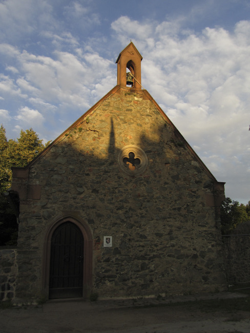 A chapel next to Castle Frankenstein. Just south of Darmstadt, Germany.