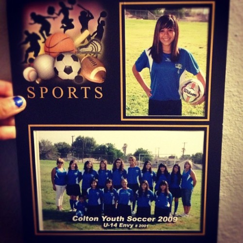 Mean o'throwback! Haha my soccer days. 😔💙⚽