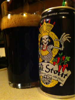 Had to try something new on Stout Day. Finally getting around to the Ska Brewing Mole Stout. Interesting, but not something I would drink all night.
