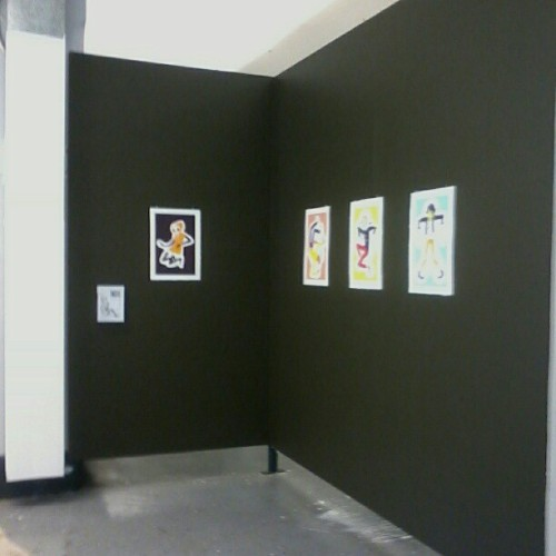 They're up! Hope they don't fall down over the weekend… #GradShow #sneakpeek