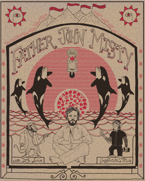 Father John Misty Poster by Andy Schmidt