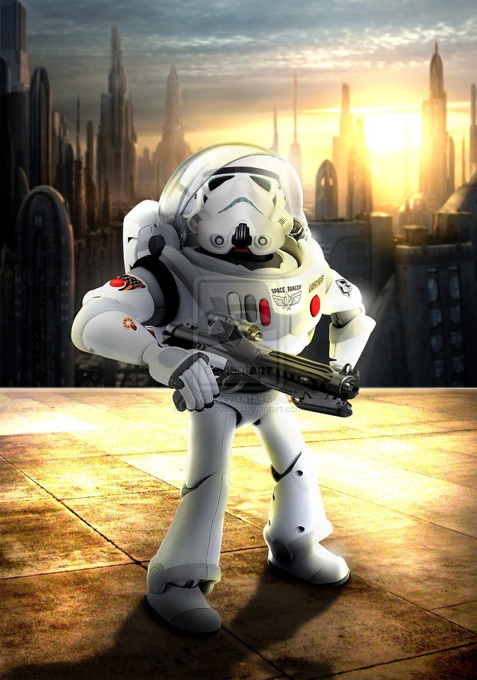 Buzz-Trooper, Space Ranger for the Empire! Made by Bruno Sousa on deviantArt:http://fav.me/d5k1q5c