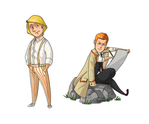elevatortonowhere:  5th Doctor/Turlough by ~kissyushka