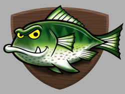 Cartoon Fish Character Art on Flickr.Via Flickr: Cartoon fish character drawing created for a client project that I can't discuss yet.