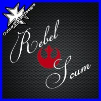 (DECAL) Star Wars - Rebel Scum (2 Color) Show the galaxy that you're proud to be a part of the Rebellion!