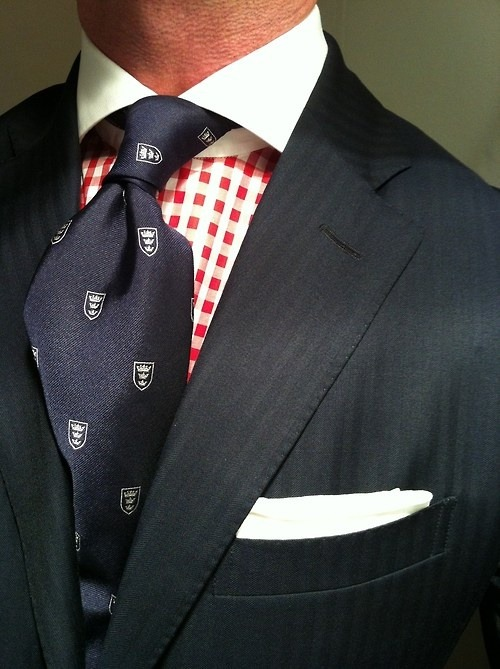 maninpink:  Submitted by http://maninpink.co * Navy herringbone suit by Ralph Lauren.jpg