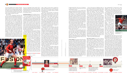 Manchester United in Howler issue one—our club timeline and a wonderful essay by Luke Dempsey. In all, 12 pages celebrating a great team.