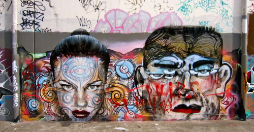 Rone (over Phibs) & Lister @ Marrcikville - Sydney (November 2012)