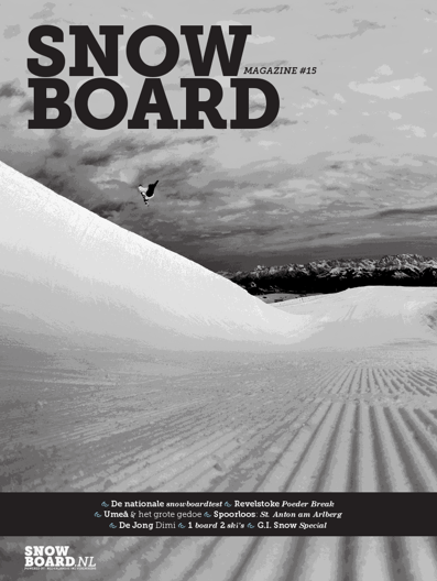 Just got a cover on Snowboard.NL, stoked, never thought it would be a half pipe shot, that doesn't happen every day!