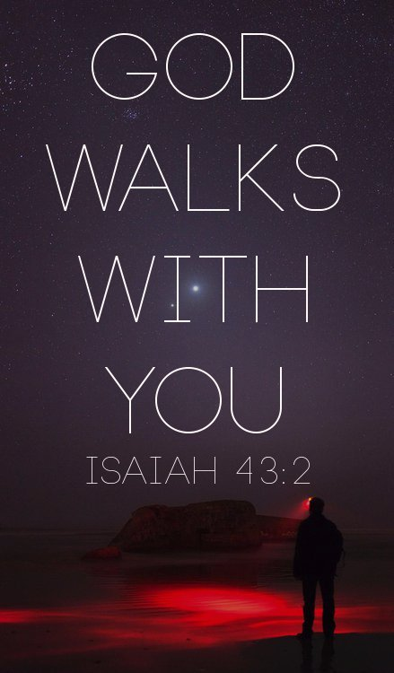 """When you go through deep waters and great trouble, I will be with you. When you go through rivers of difficulty, you will not drown"" Isaiah 43:2 (TLB). Have you ever experienced something that truly tested your faith, your joy and your convictions? We're not talking about just having a bad day or having to deal with difficult people - but enduring an intense situation that rocks you to your very core. When many people face such soul-searching they let their happiness and joy turn into bitterness and anger. Make sure this doesn't happen to you. Don't give the evil one the victory by becoming an ineffective Christian due to lingering bitterness. Even if you're being tested, God has promised to remain faithful. He is all-powerful, and He can pull you out of your troubles at any moment. Choose to remain faithful and joyous despite your present circumstances. A Prayer for Today God, please help me to trust You and not give in to bitterness or anger, even in the middle of my trials. Thank You for the promise of Your never-failing love. In Jesus' Name. Amen."