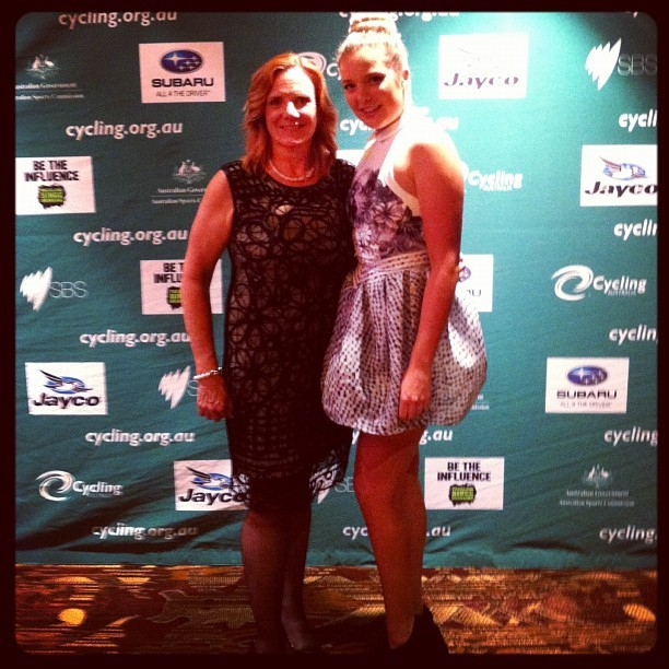 Carol and I at the cycling Australia awards night.