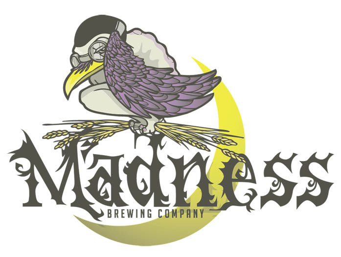 Just finished up this logo for my friends at Madness Brewing Company.