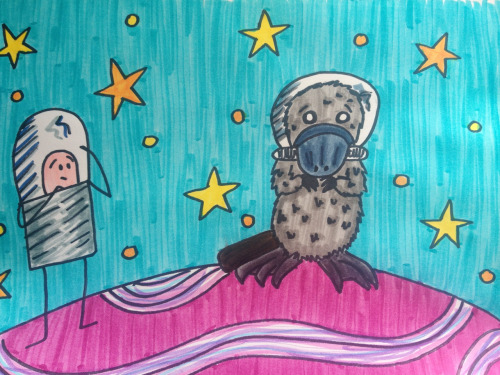 Captain Spaceman finds the Platypus Cosmonaut.
