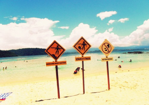 Funny beach signs. :P