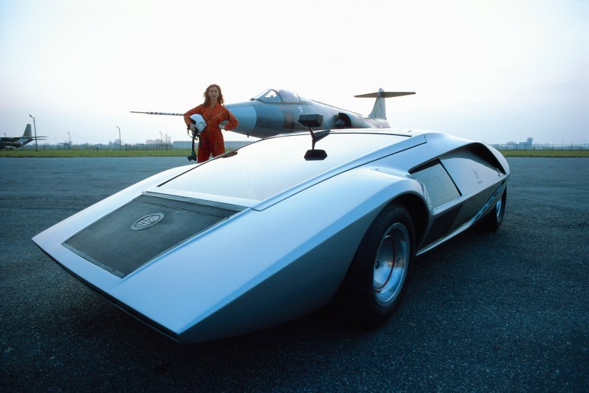 Bertone Lancia Stratos concept car, 1970, Torino, Italy. Photo by Rainer W. Schlegelmilch.