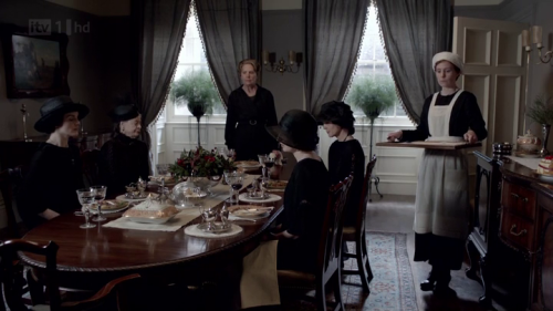 "Downton Abbey is the social experiment par excellence, answering the pressing question, ""What matters most to me?"" Many viewers will admire the family upstairs — their hair, their games, their elegant ways and ""flapper flair"". How can we help it, we're shamelessly pinterested in such things! What we feel for those below might be an indulgent humor, perhaps pity; this we will find virtuous, as if pity had anything to do with compassion."