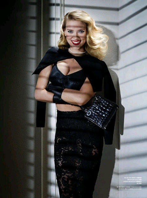 ScarJo in Dolce&Gabbana for V Magazine.