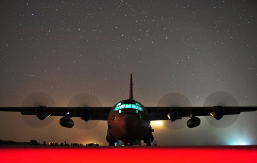 Photo of the day: Military aircraft unloads cargo beneath starry skyA C-130J Hercules — a cargo transport plane assigned to Arkansas' Little Rock Air Force Base — performs an engine-running offload beneath a star-filled sky at the Geronimo Landing Zone in Fort Polk, La.