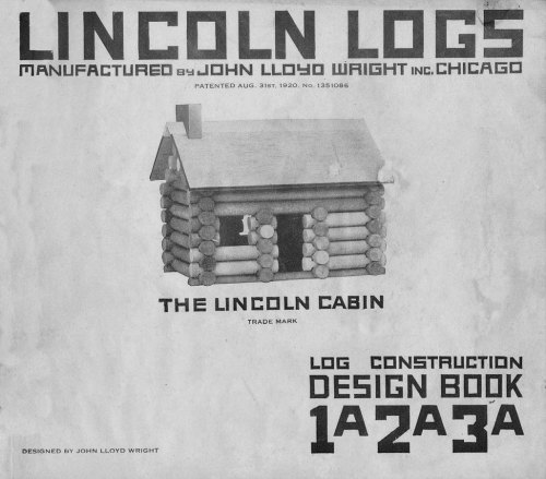 laphamsquarterly:  Lincoln logs may have been named after the nation's 16th president, but did you know that they were invented by the son of Frank Lloyd Wright, and molded from models used in the building of Wright's Imperial Hotel? Apparently the earthquake-proof construction utilized interlocking pieces of concrete, a strategy that translated well to the children's toy market. Now, go forth and build your best log cabin!