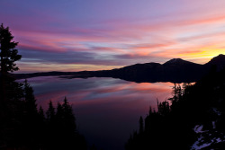 Crater Lake Sunrise by Joshua Johnston on Flickr.