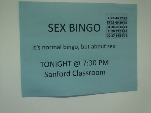 Sex Bingo This ain't your grandma's bingo