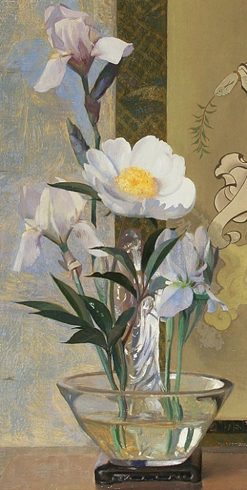 Hermann Dudley Murphy Peony and Kwannon, detail 20th century